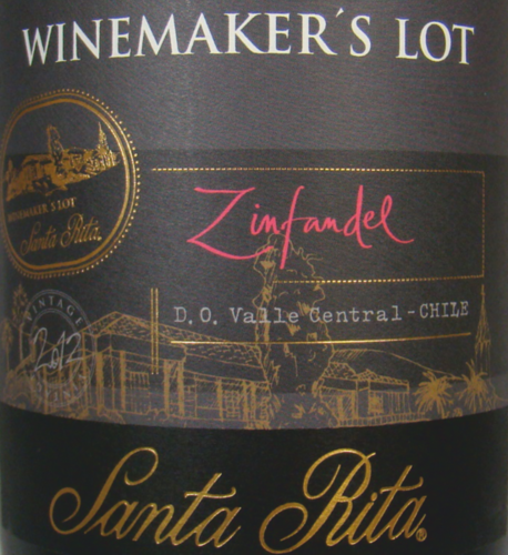Santa Rita Zinfandel 2012 Winemaker's Lot Chile 0,75l